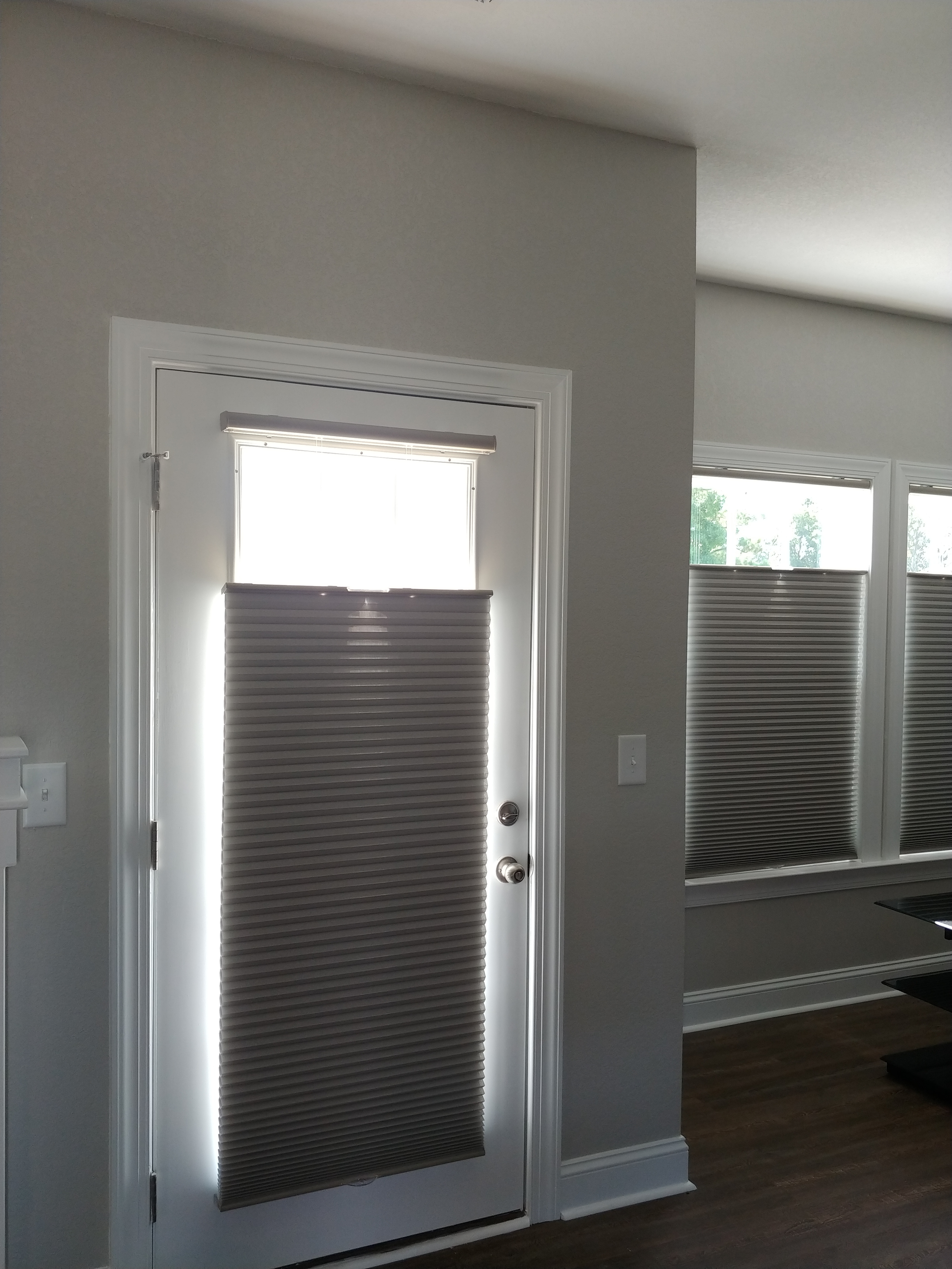 Cellular shades with top down